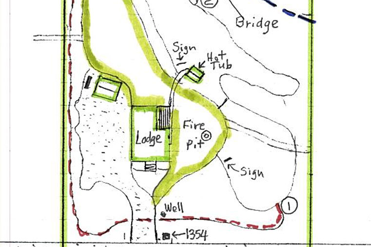 hiking trail map of the property